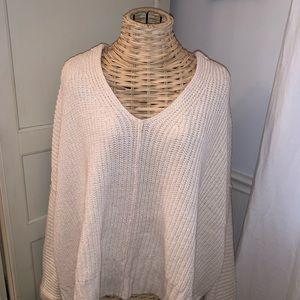 Free People Lofty VNeck Cream Sweater
